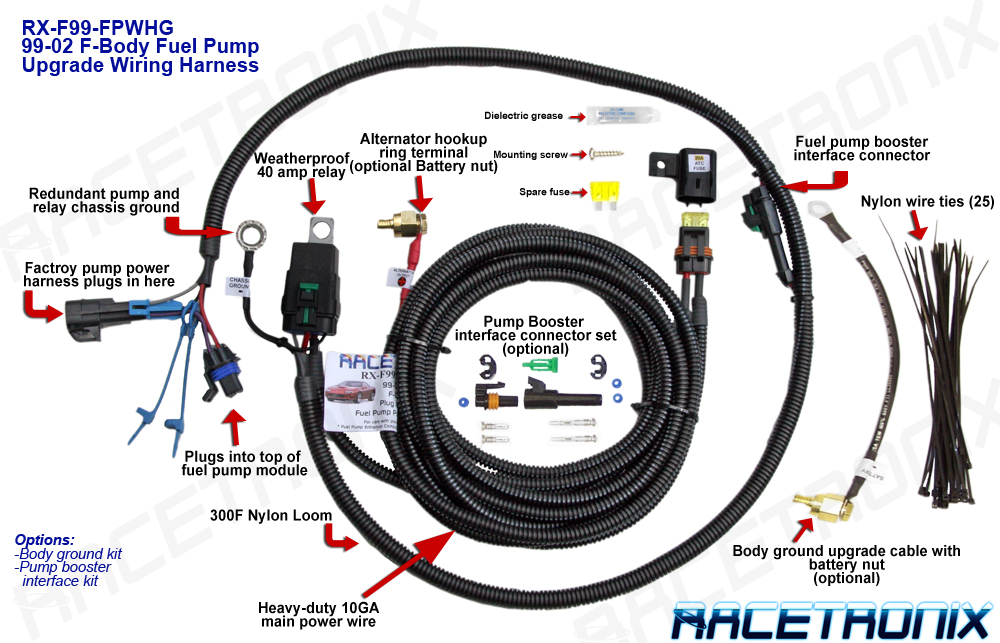 Fuel Pump Wiring Harness, 98-03 SUV (FPWH-001): FUEL PUMP - HOTWIRE ...